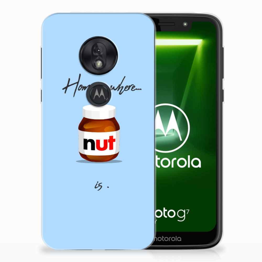 Motorola Moto G7 Play Siliconen Case Nut Home