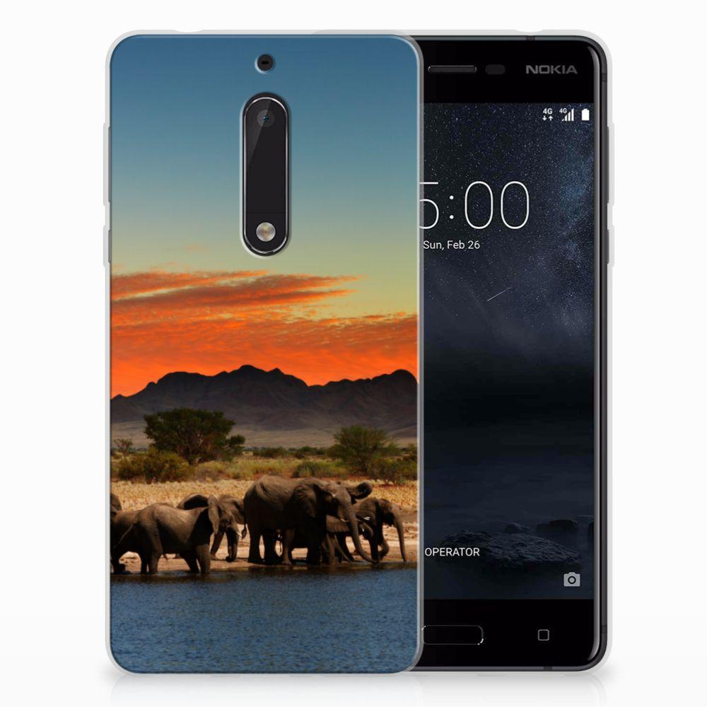 Nokia 5 TPU Hoesje Design Olifanten