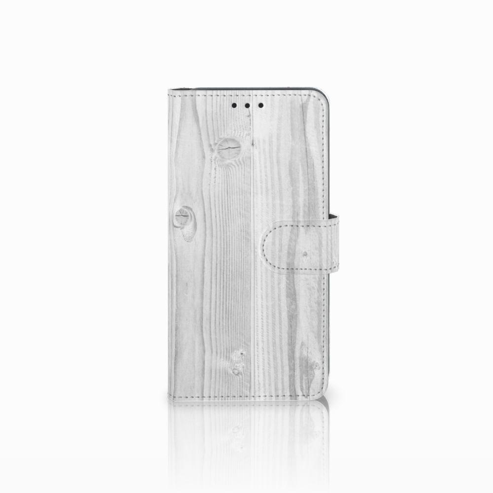 Samsung Galaxy A8 2018 Boekhoesje Design White Wood