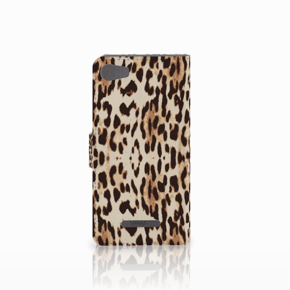Wiko Lenny 2 Telefoonhoesje met Pasjes Leopard