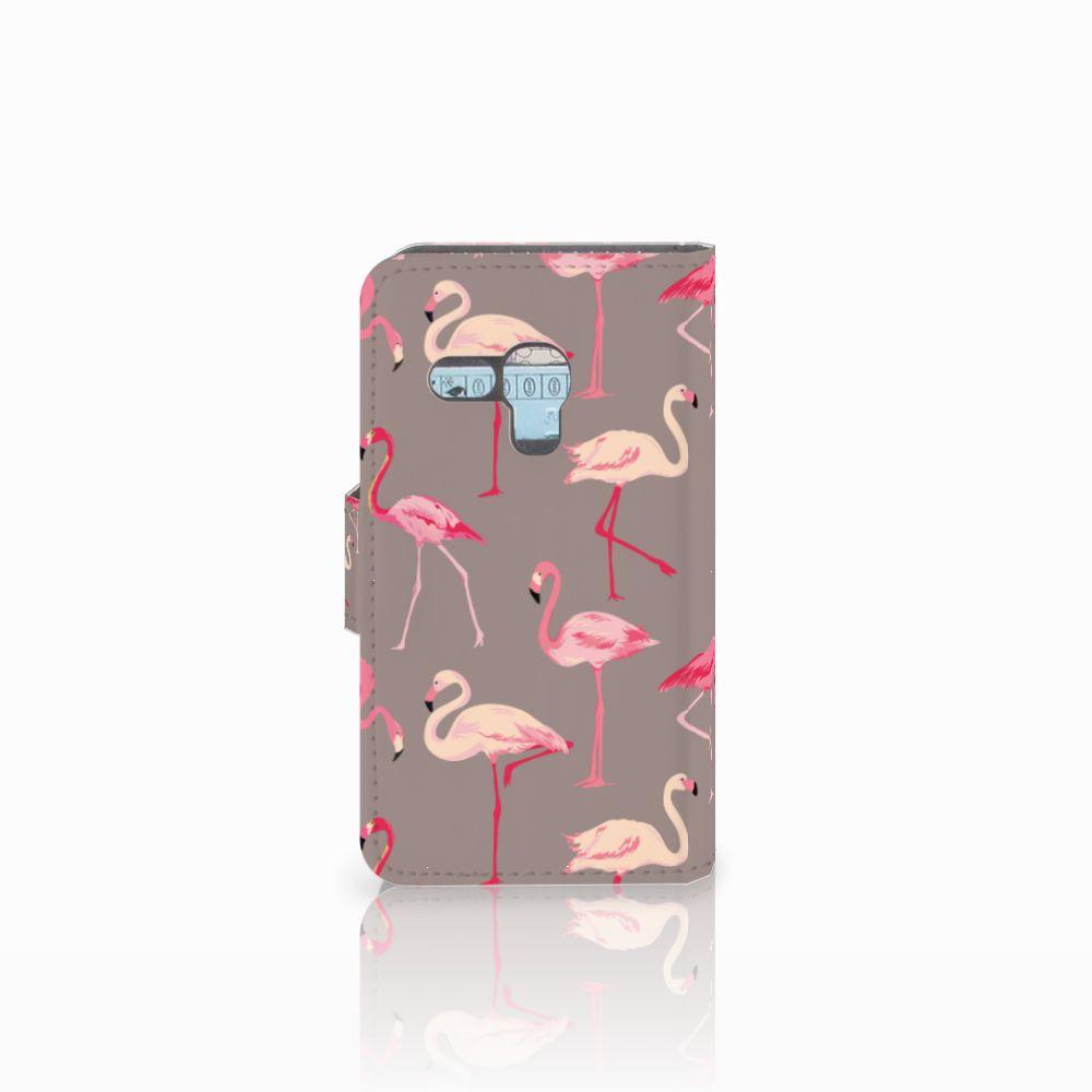 Samsung Galaxy S3 Mini Telefoonhoesje met Pasjes Flamingo