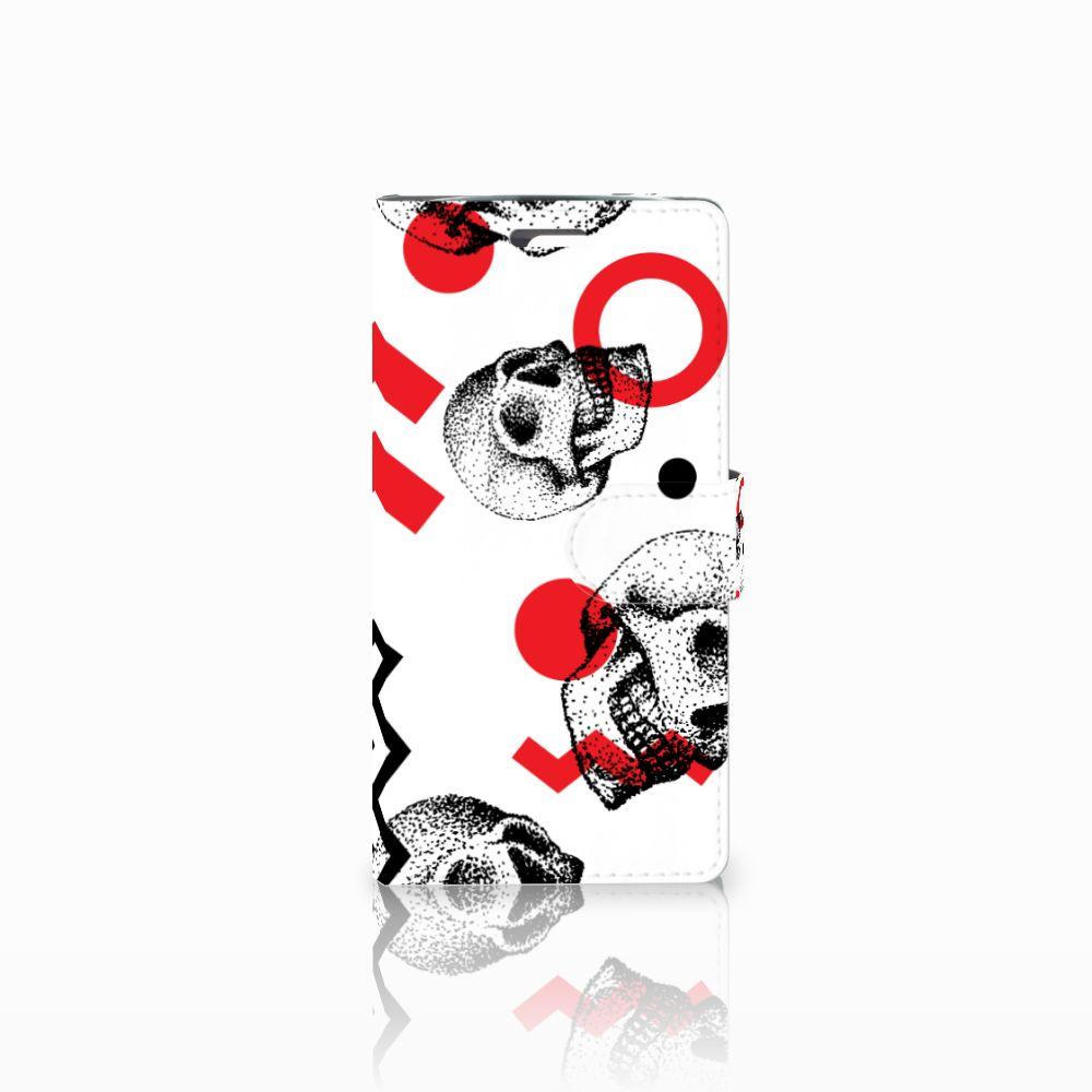 LG K10 2015 Boekhoesje Design Skull Red