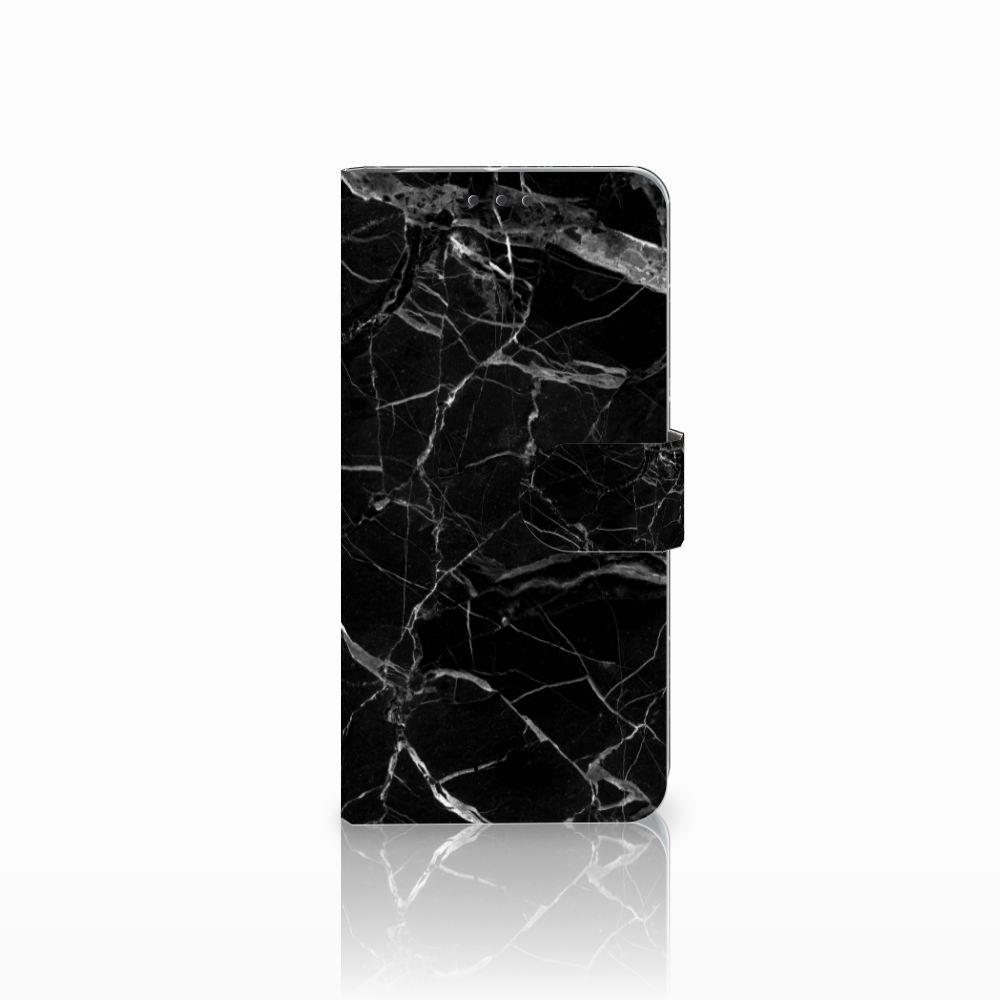 HTC U11 Plus Uniek Boekhoesje Marmer Zwart