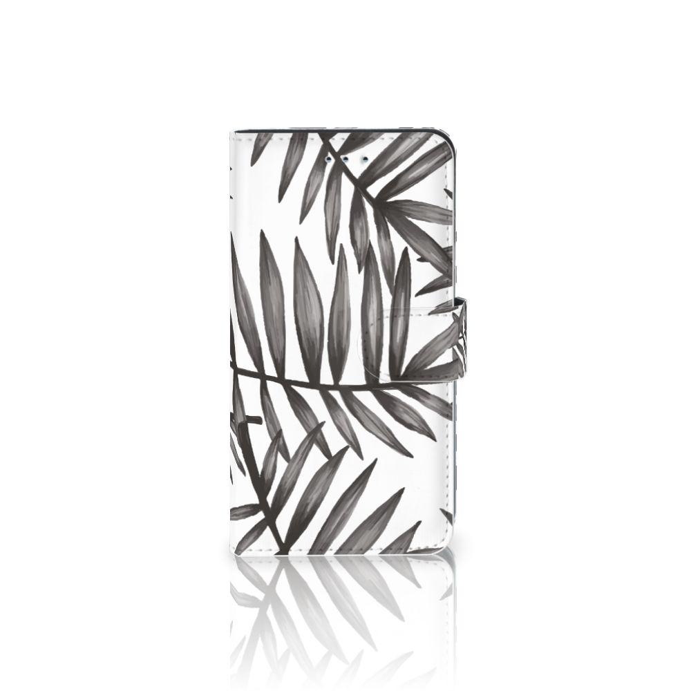 Samsung Galaxy J4 2018 Uniek Boekhoesje Leaves Grey