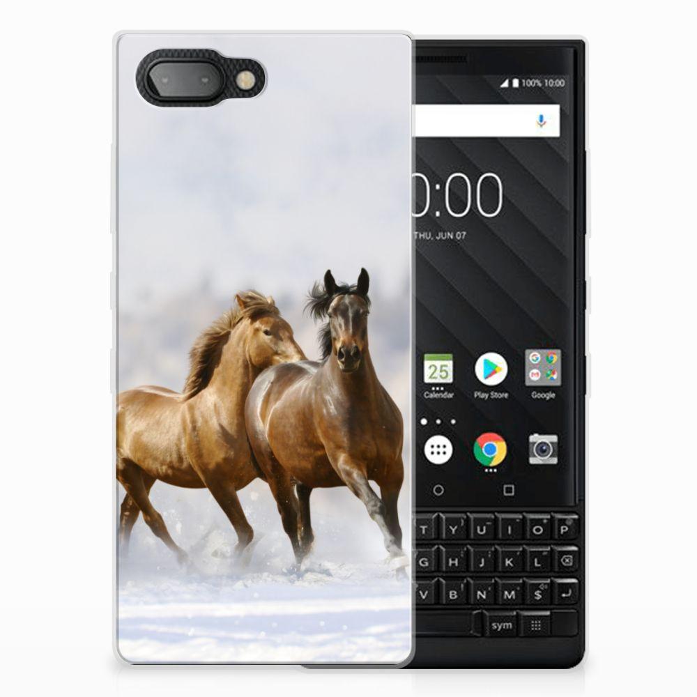 BlackBerry Key2 TPU Hoesje Paarden