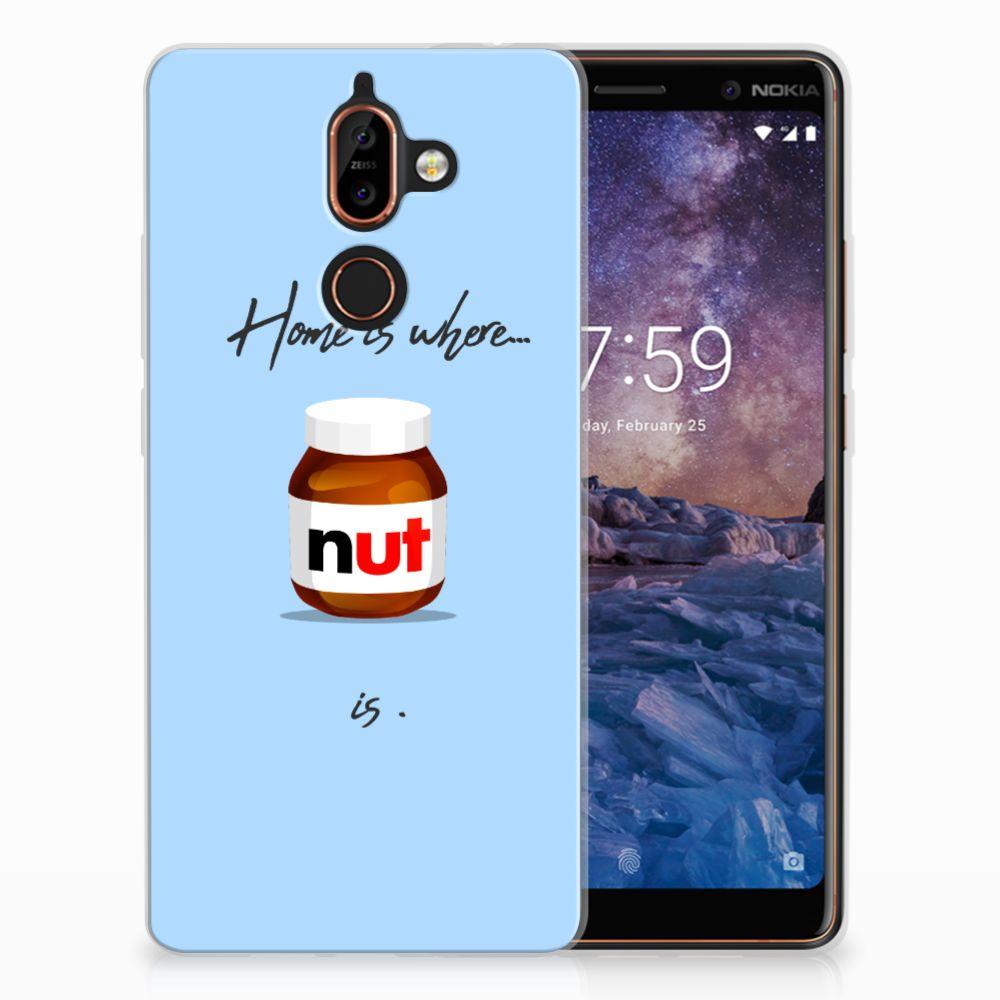 Nokia 7 Plus Siliconen Case Nut Home
