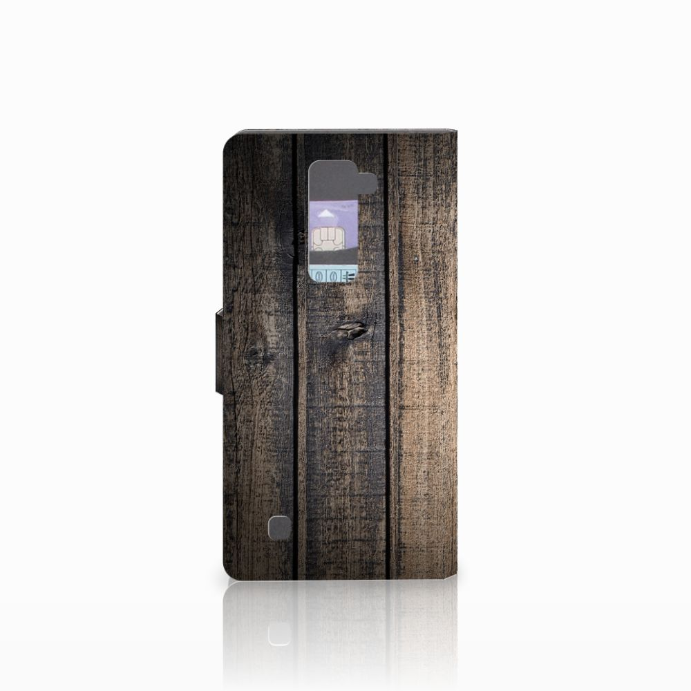 LG K10 2015 Book Style Case Steigerhout