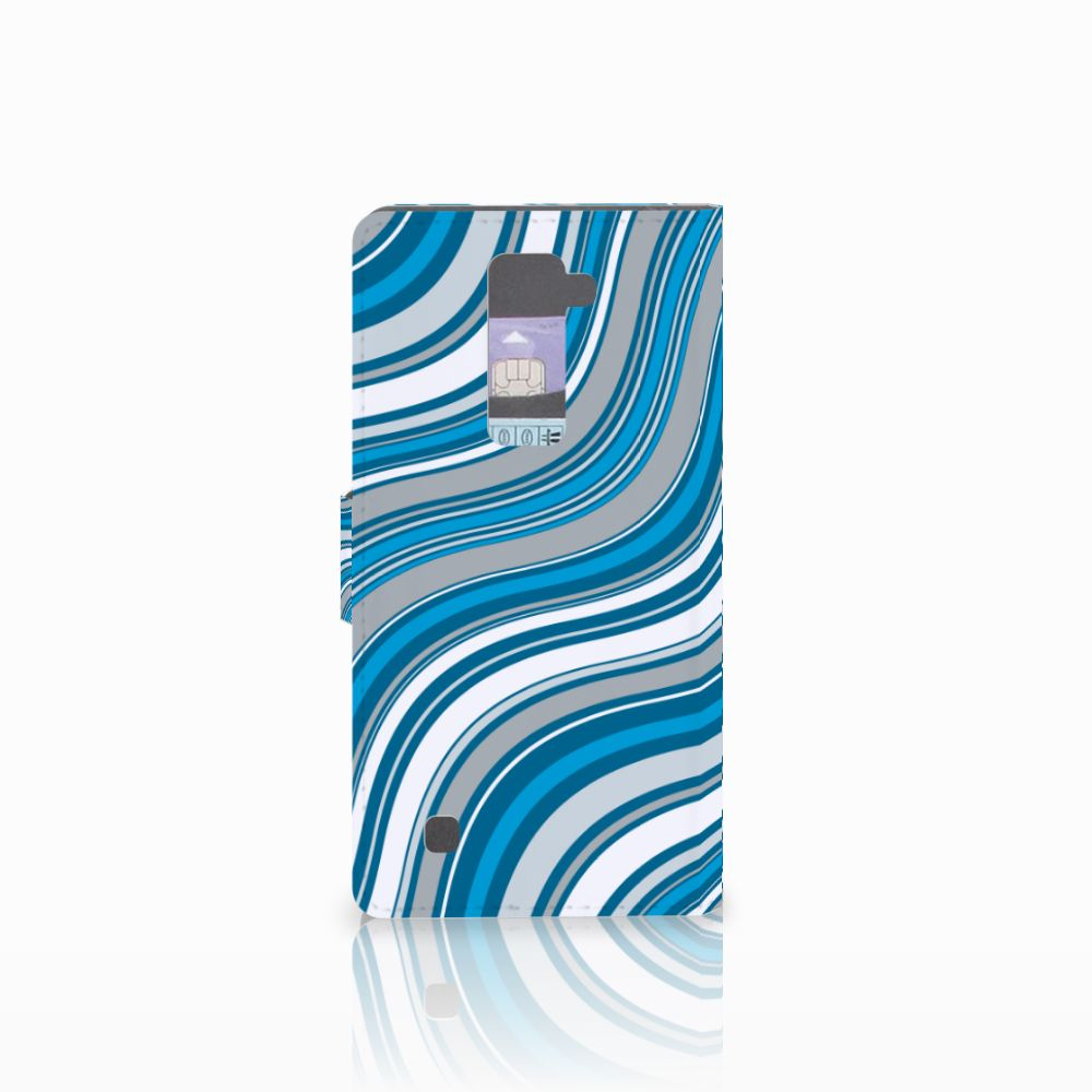 LG K10 2015 Telefoon Hoesje Waves Blue
