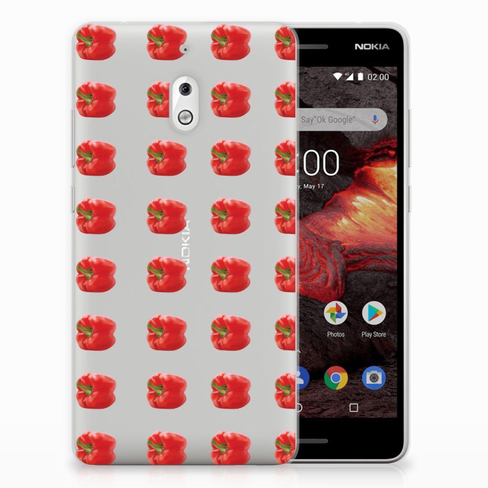 Nokia 2.1 (2018) Siliconen Case Paprika Red