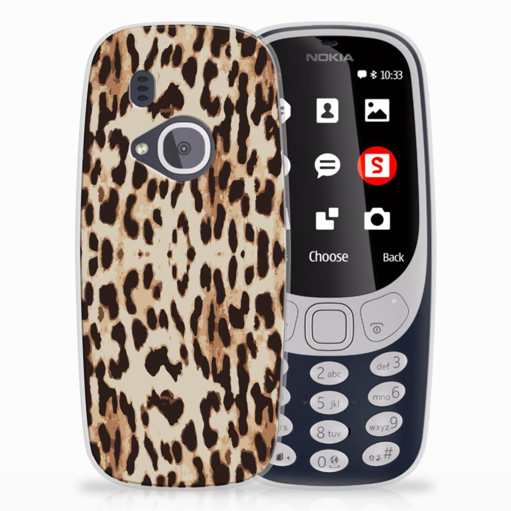 Nokia 3310 (2017) Uniek TPU Hoesje Leopard