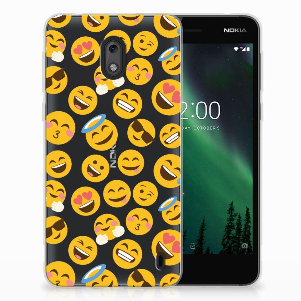 Nokia 2 TPU Hoesje Design Emoji