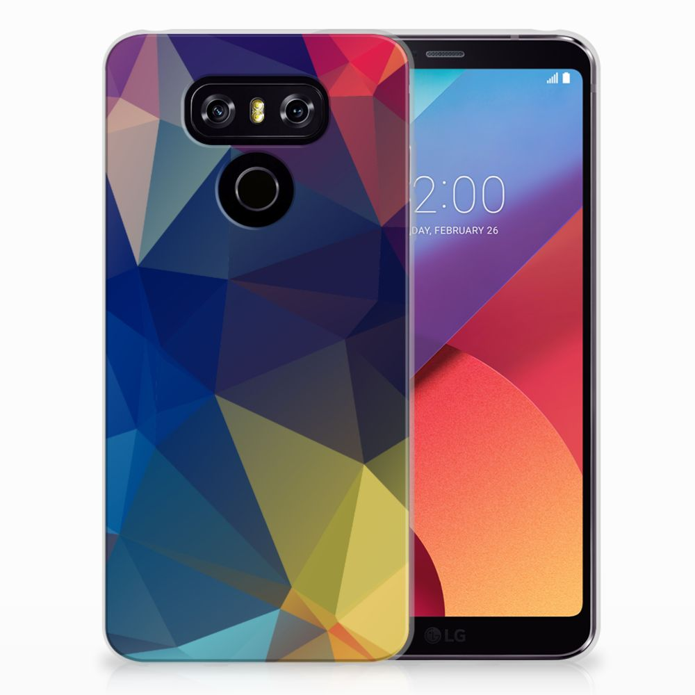LG G6 TPU Hoesje Polygon Dark