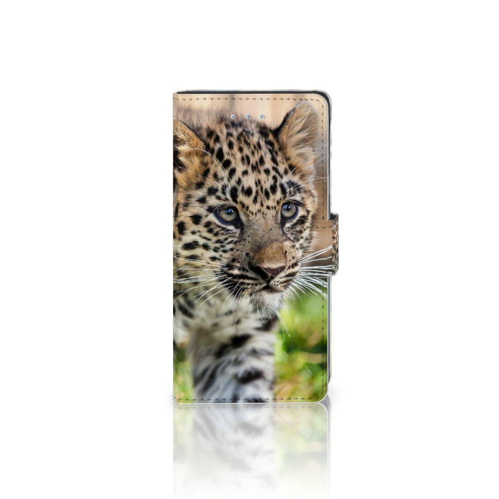 LG Nexus 5X Telefoonhoesje met Pasjes Baby Luipaard