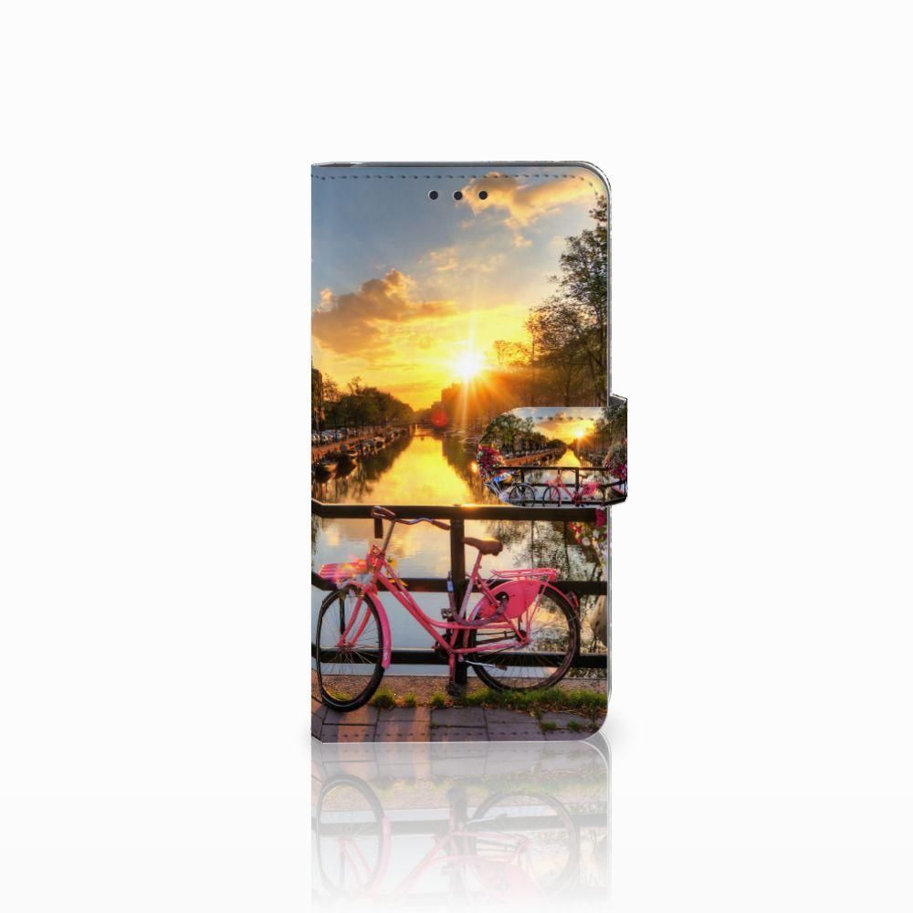Samsung Galaxy A8 2018 Uniek Boekhoesje Amsterdamse Grachten