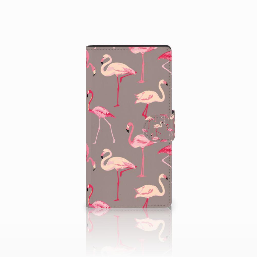 Sony Xperia C4 Uniek Boekhoesje Flamingo