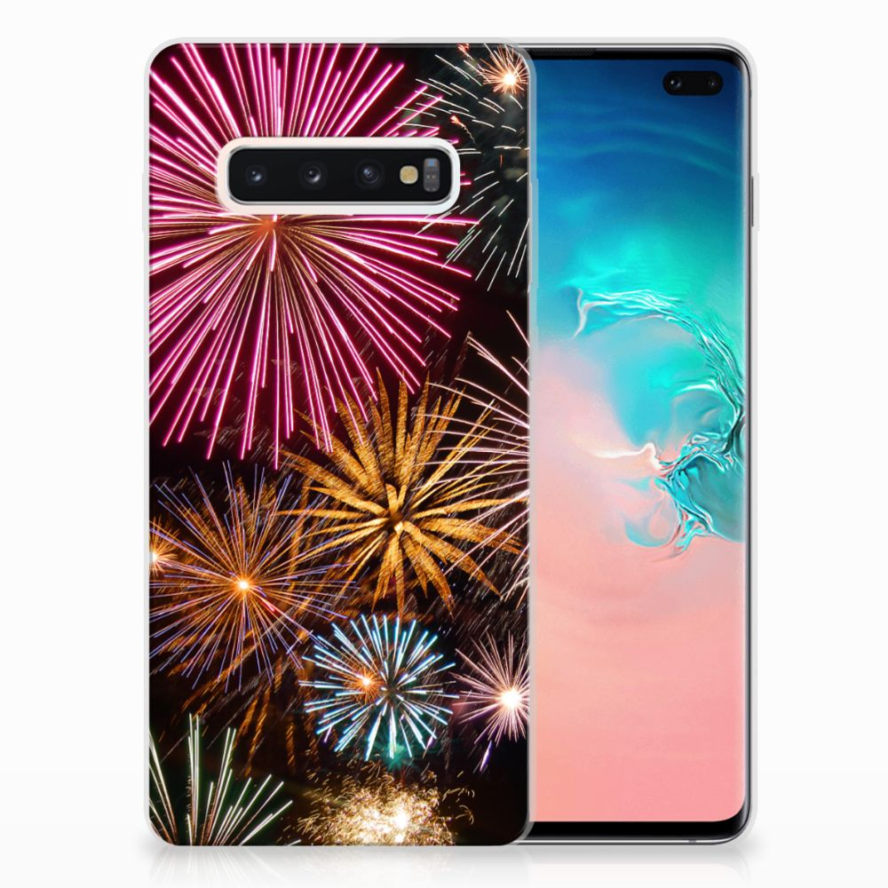 Samsung Galaxy S10 Plus Silicone Back Cover Vuurwerk