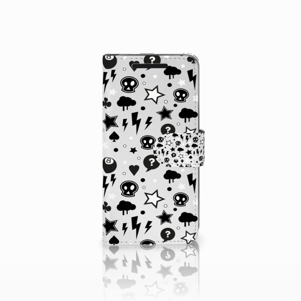 Telefoonhoesje met Naam HTC One M9 Silver Punk