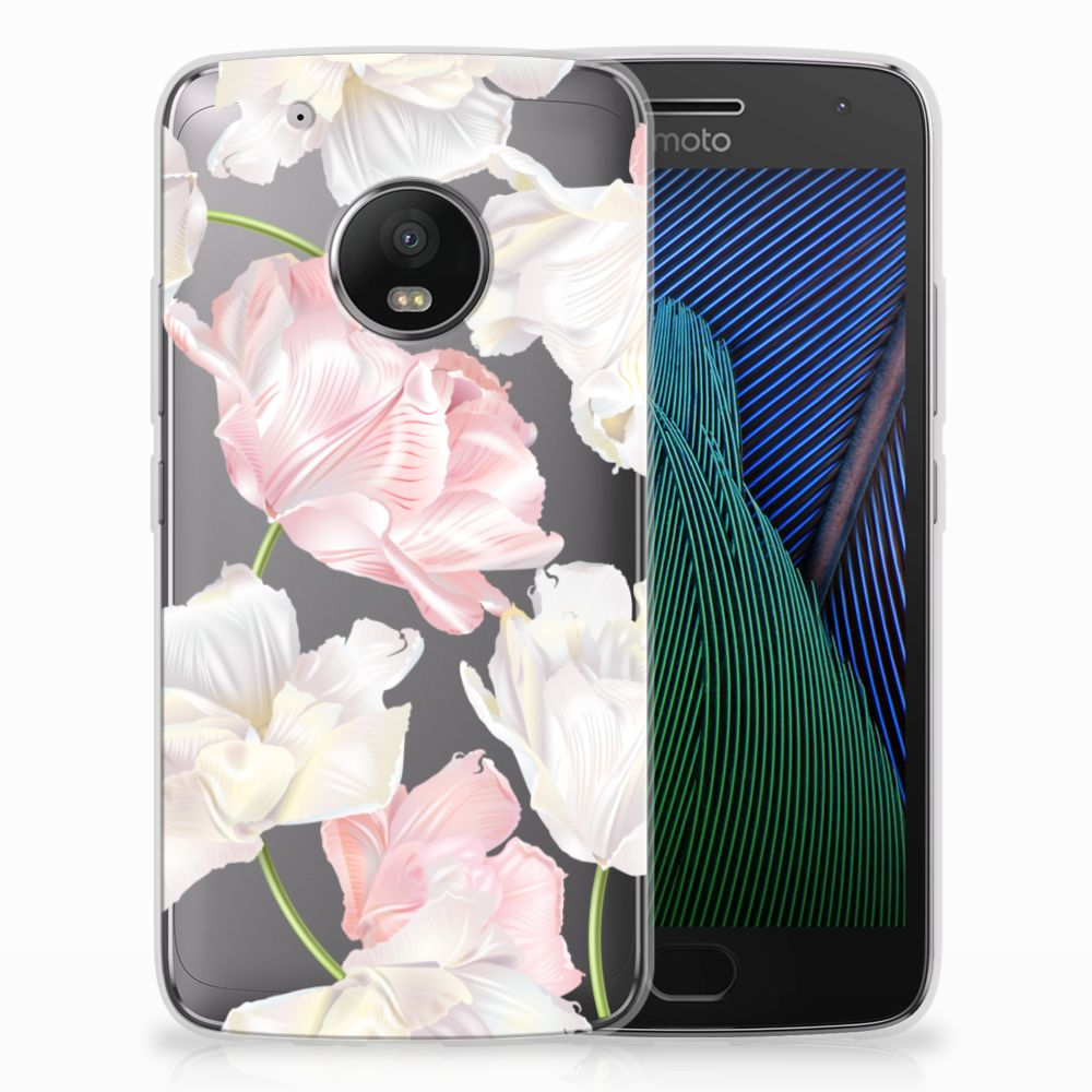 Motorola Moto G5 Plus TPU Hoesje Design Lovely Flowers