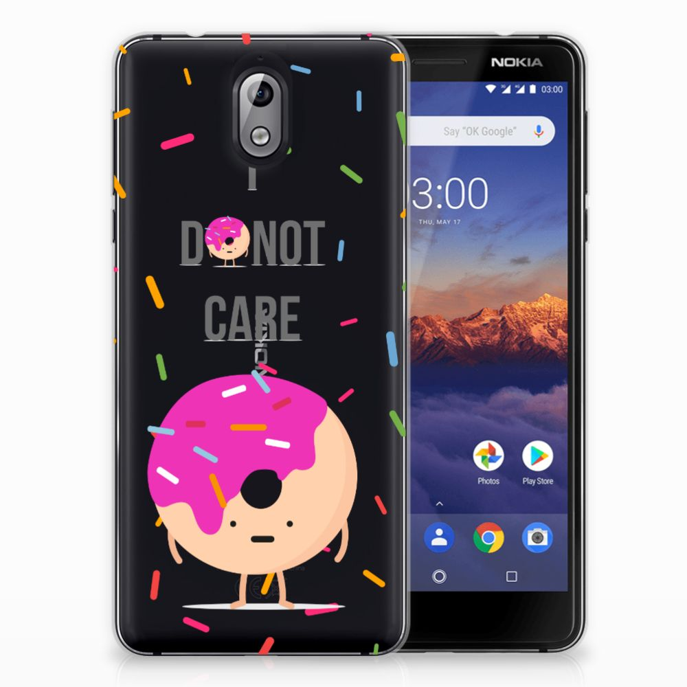 Nokia 3.1 (2018) Siliconen Case Donut Roze