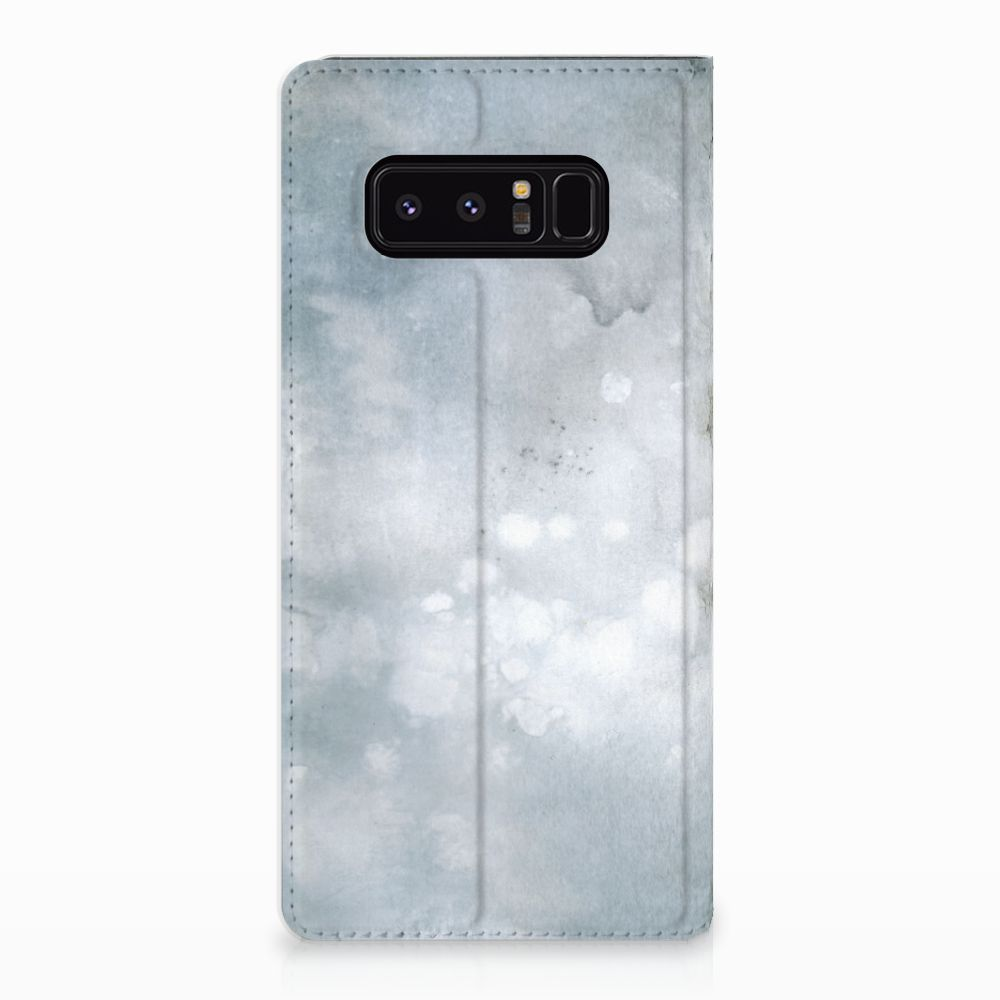 Samsung Galaxy Note 8 Uniek Standcase Hoesje Painting Grey