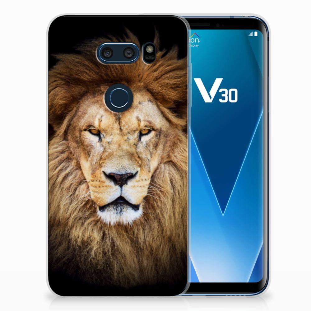 LG V30 TPU Hoesje Design Leeuw
