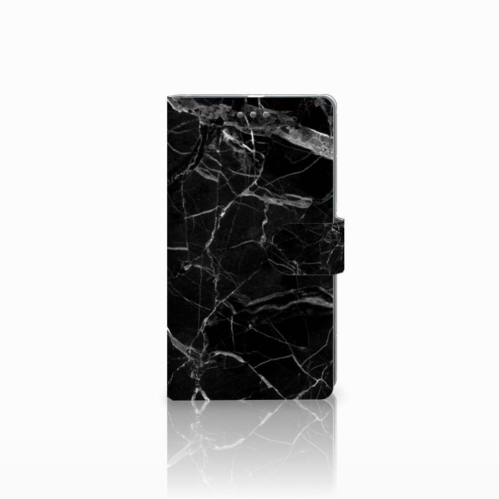 Microsoft Lumia 950 XL Uniek Boekhoesje Marmer Zwart