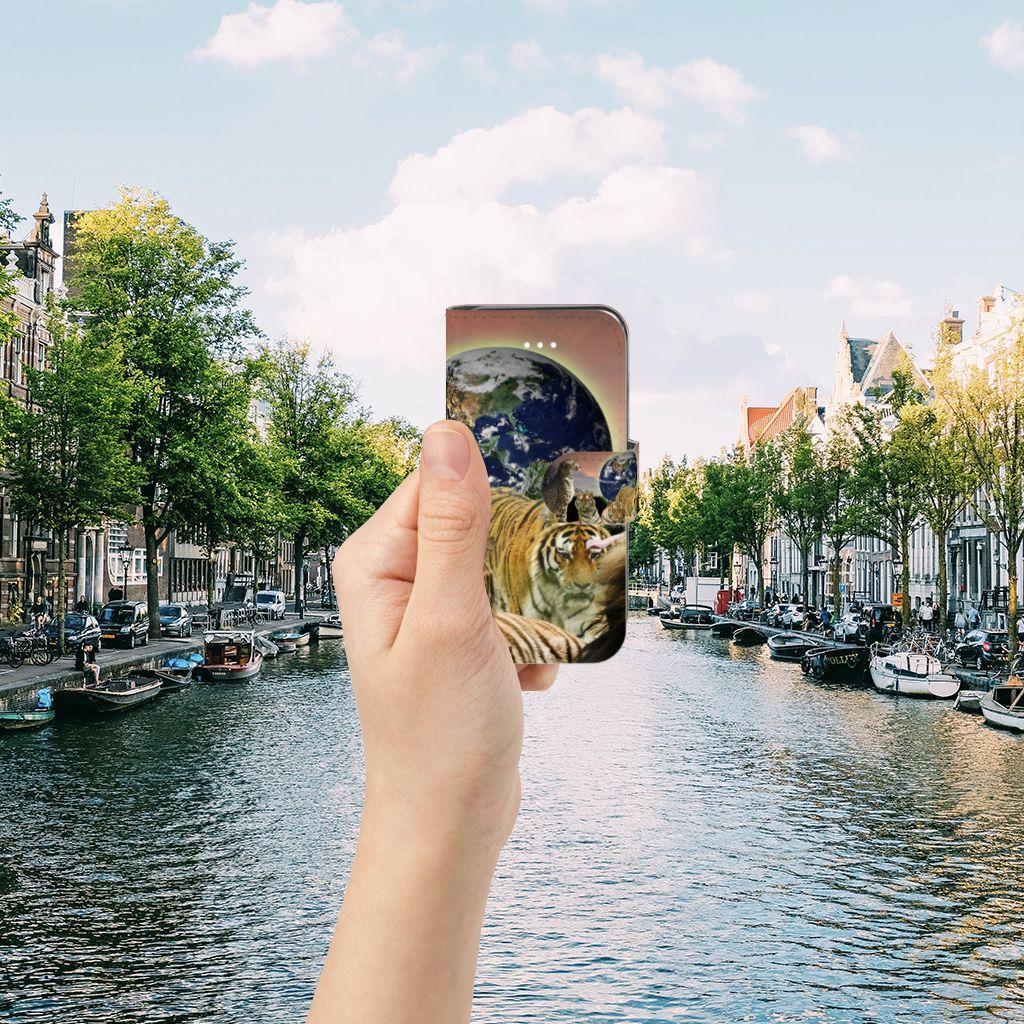 Apple iPhone 5 | 5s | SE Telefoonhoesje met Pasjes Roofdieren