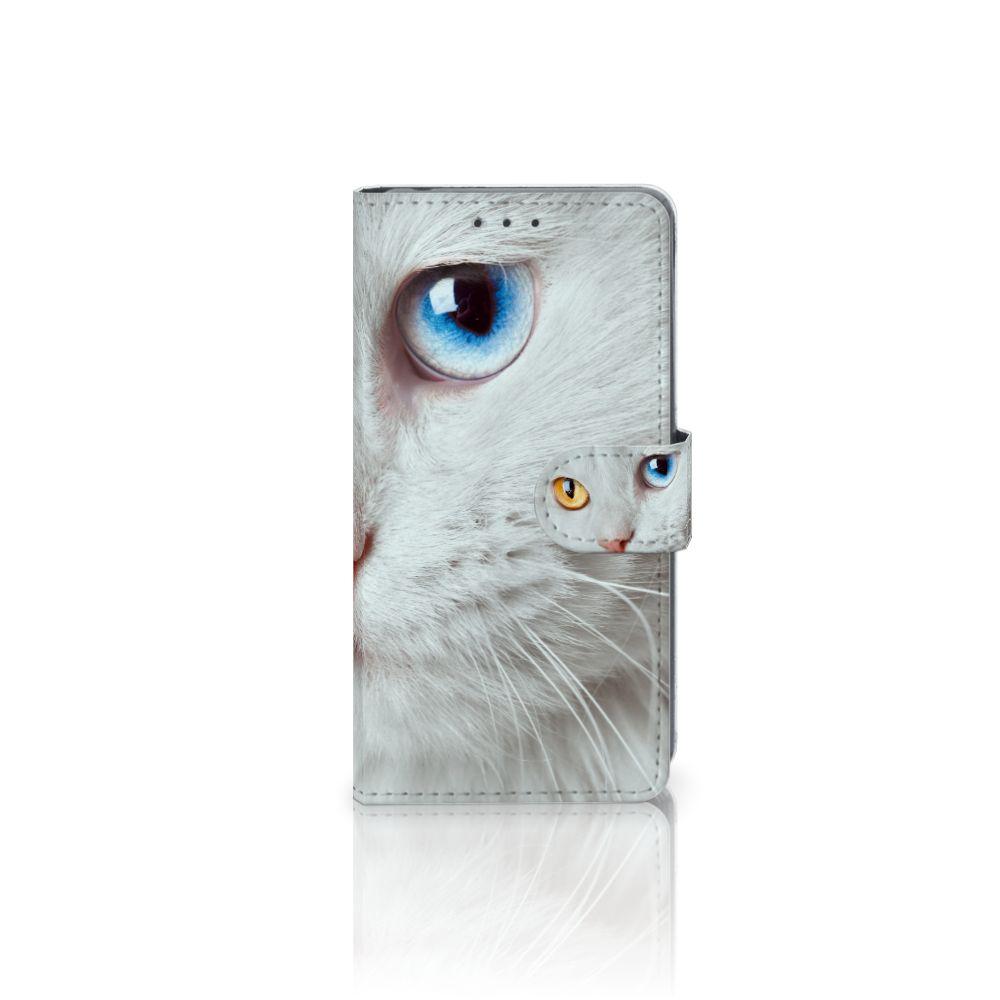 Sony Xperia Z2 Uniek Boekhoesje Witte Kat