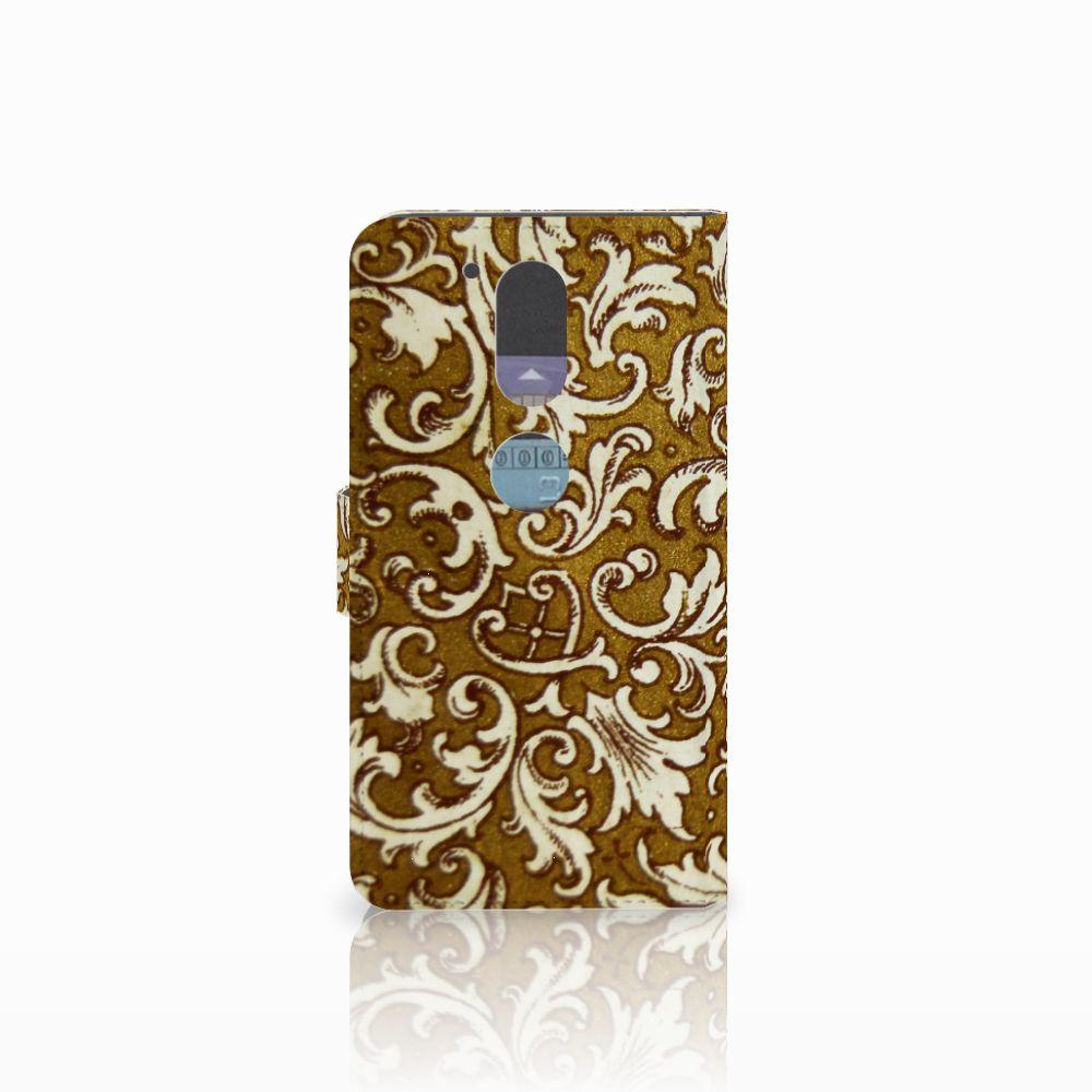 Wallet Case Motorola Moto G4 | G4 Plus Barok Goud