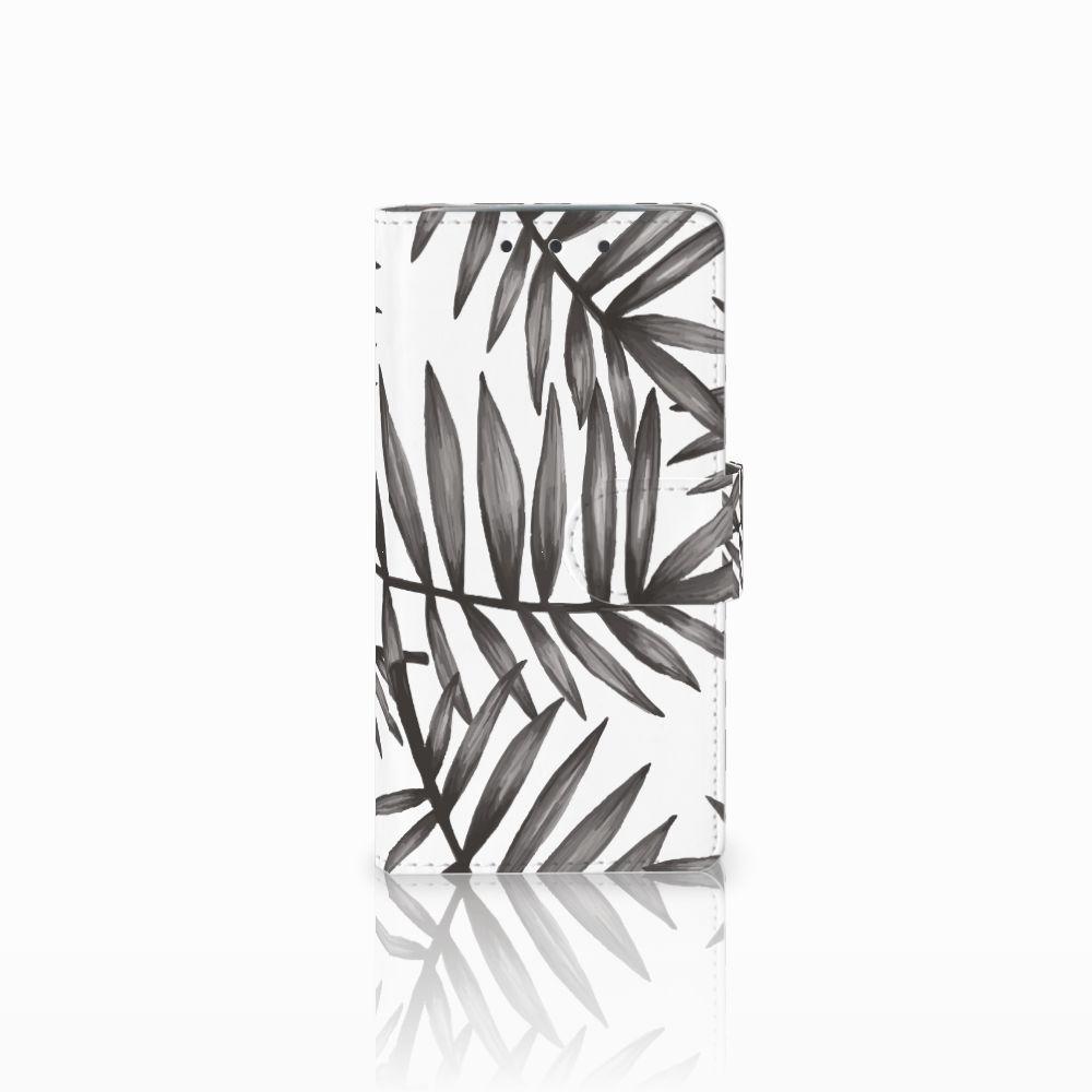 HTC One M7 Uniek Boekhoesje Leaves Grey