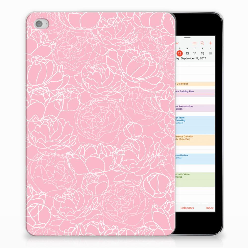 Apple iPad Mini 4 | Mini 5 (2019) TPU Case White Flowers