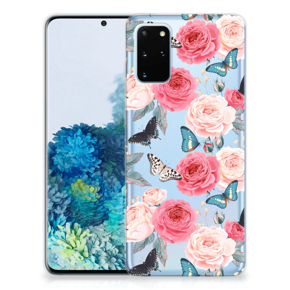 Samsung Galaxy S20 Plus TPU Case Butterfly Roses