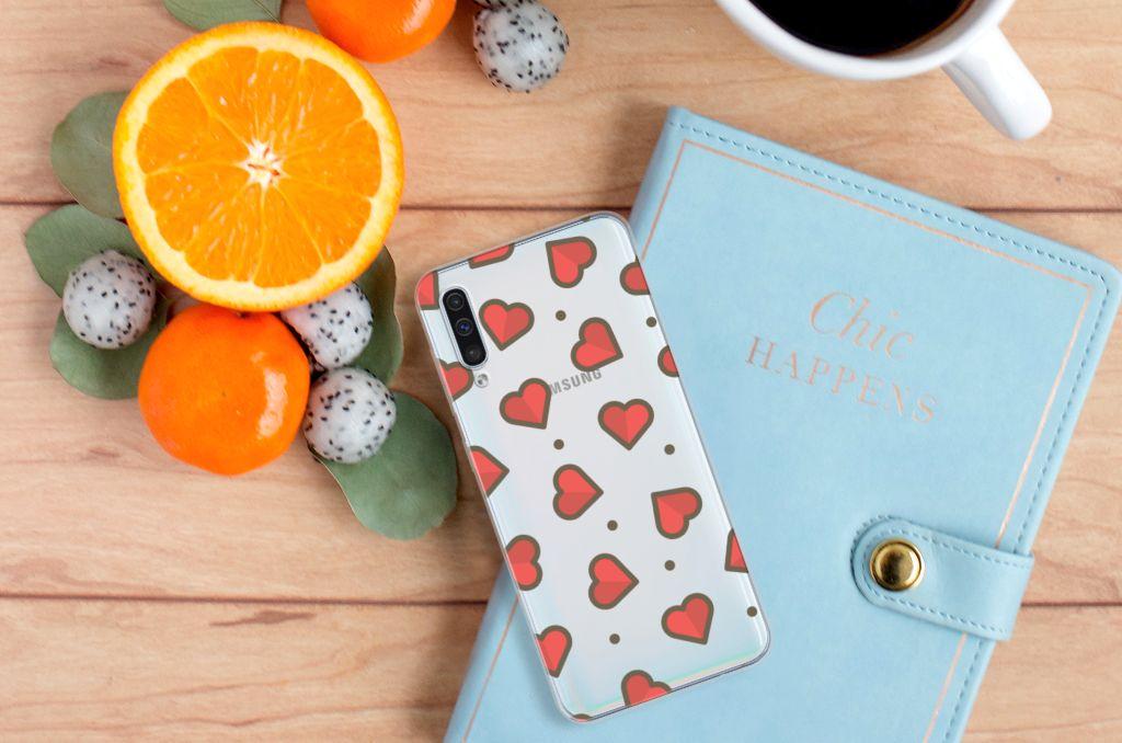 Samsung Galaxy A50 TPU bumper Hearts