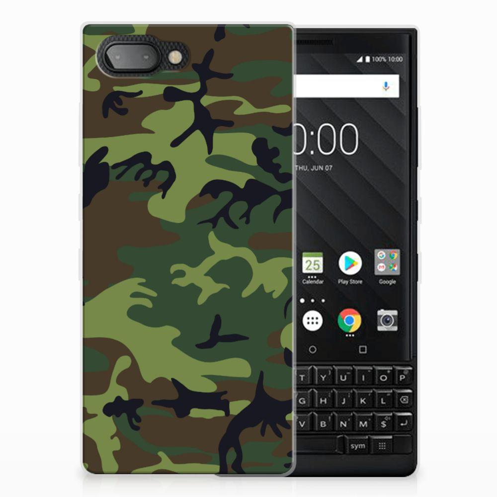 BlackBerry Key2 TPU Hoesje Design Army Dark