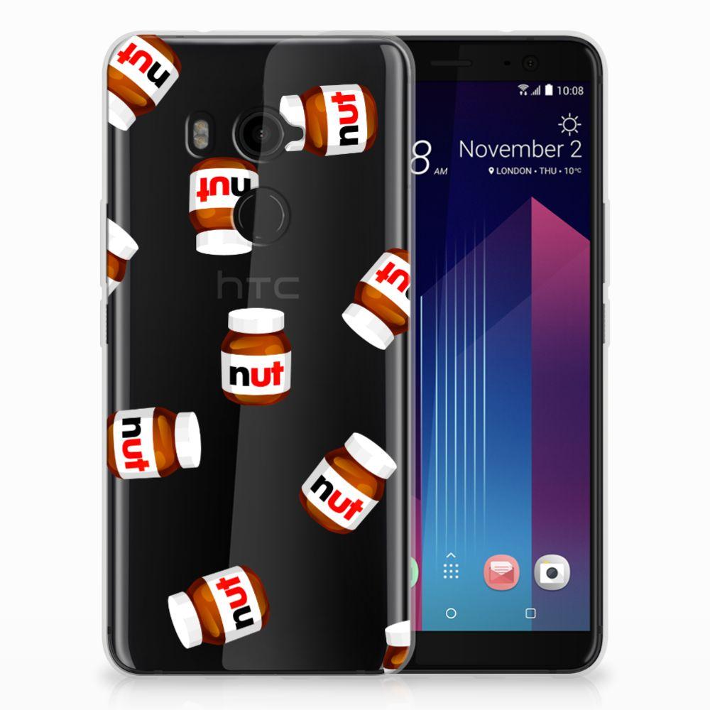 HTC U11 Plus Siliconen Case Nut Jar