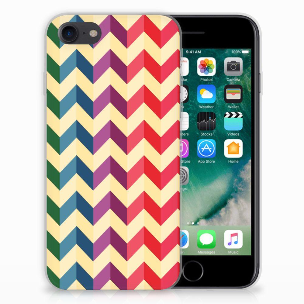 iPhone SE (2020) | 7/8 TPU bumper Zigzag Multi Color