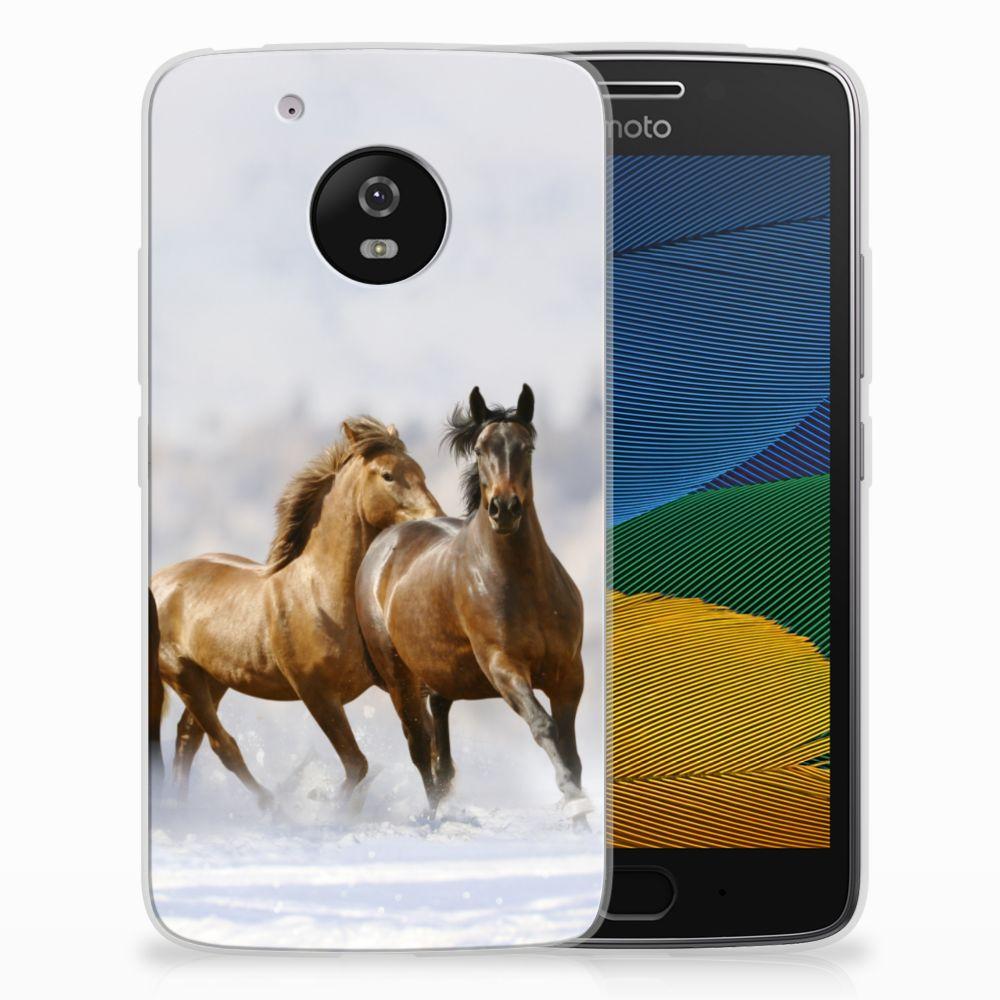 Motorola Moto G5 TPU Hoesje Paarden