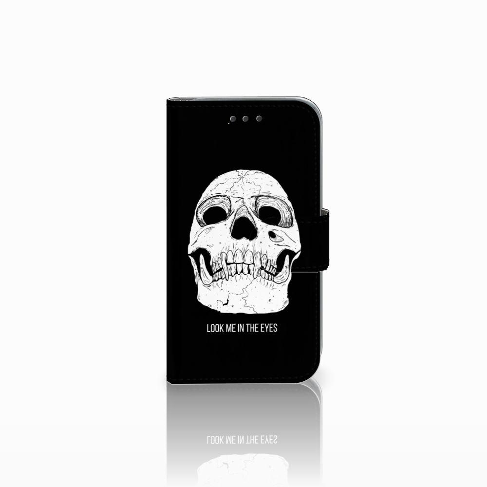 Samsung Galaxy Core Prime Uniek Boekhoesje Skull Eyes