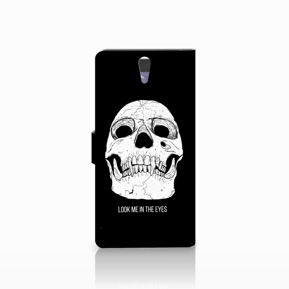 Telefoonhoesje met Naam Sony Xperia C5 Ultra Skull Eyes