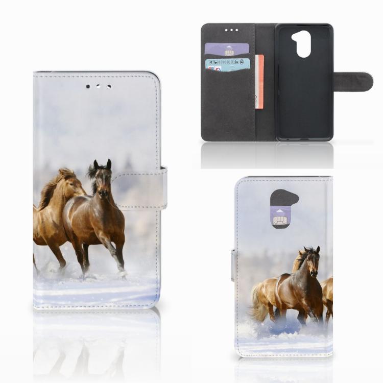 Huawei Y7 2017 | Y7 Prime 2017 Telefoonhoesje met Pasjes Paarden
