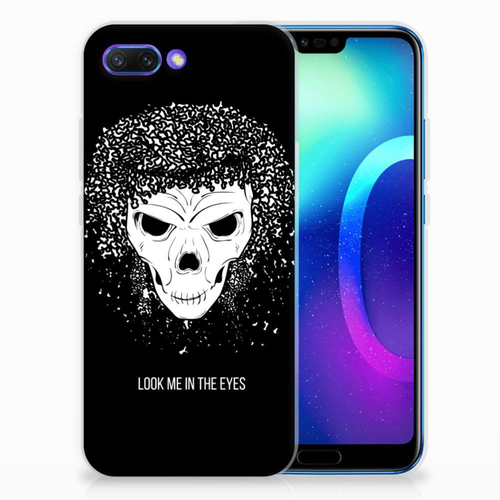 Huawei Honor 10 Uniek TPU Hoesje Skull Hair