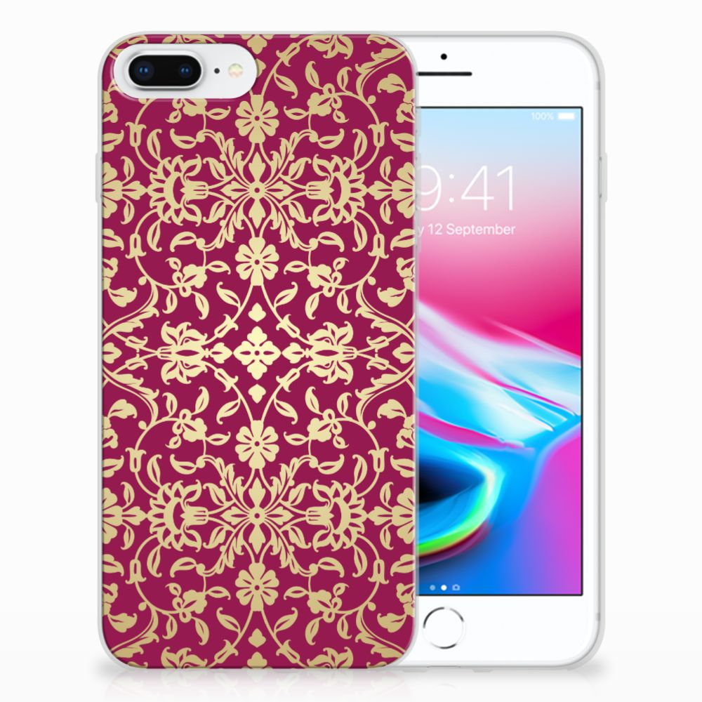 Apple iPhone 7 Plus | 8 Plus TPU Hoesje Design Barok Pink