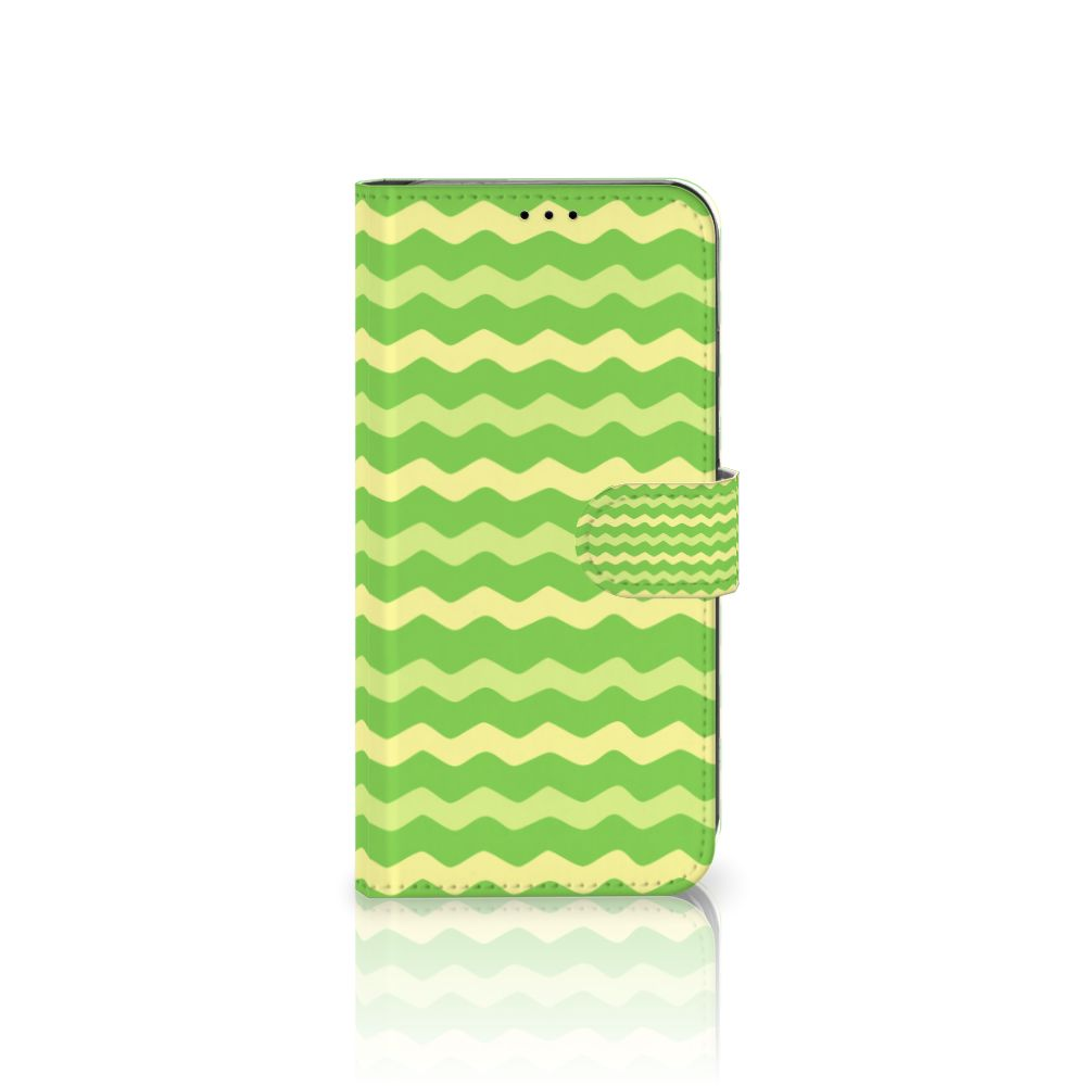 Apple iPhone Xs Max Boekhoesje Design Waves Green