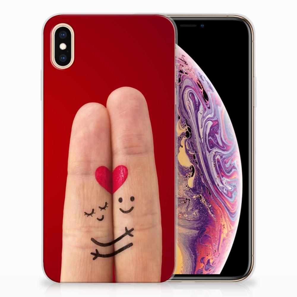 Apple iPhone Xs Max Uniek TPU Hoesje Liefde