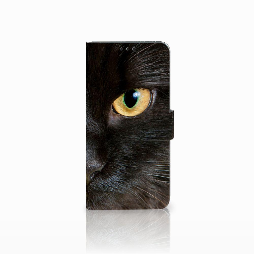 Huawei P Smart Plus Uniek Boekhoesje Zwarte Kat