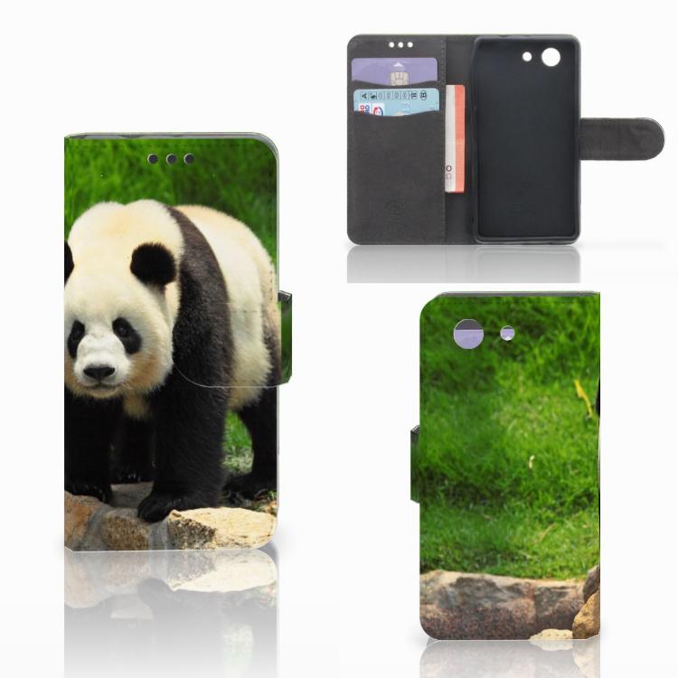 Sony Xperia Z3 Compact Telefoonhoesje met Pasjes Panda