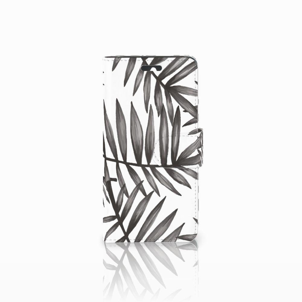 Huawei Ascend Y550 Uniek Boekhoesje Leaves Grey