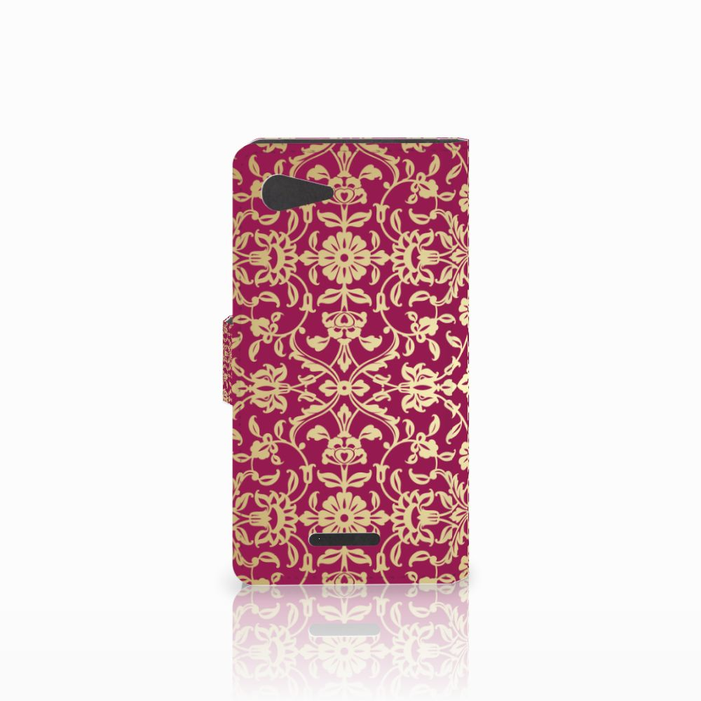 Wallet Case Sony Xperia E3 Barok Pink