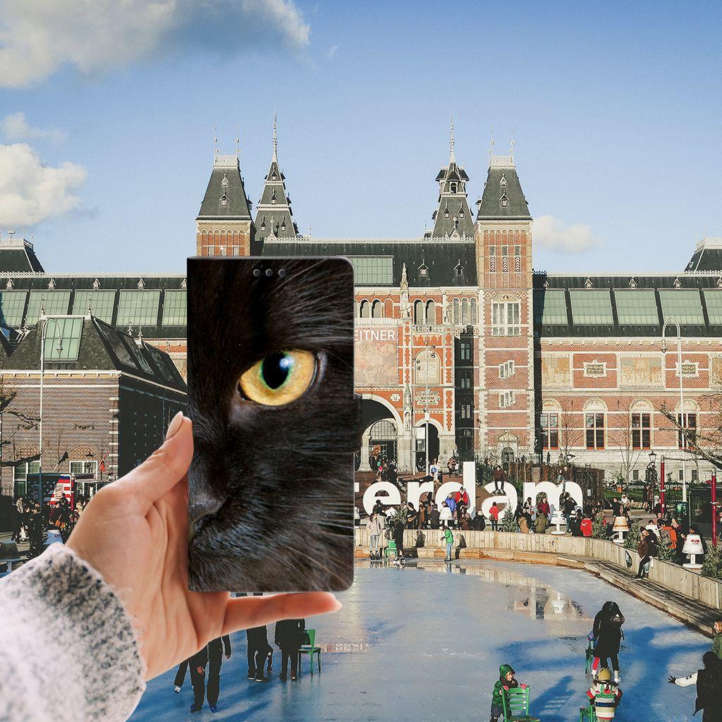 Sony Xperia XA Ultra Telefoonhoesje met Pasjes Zwarte Kat