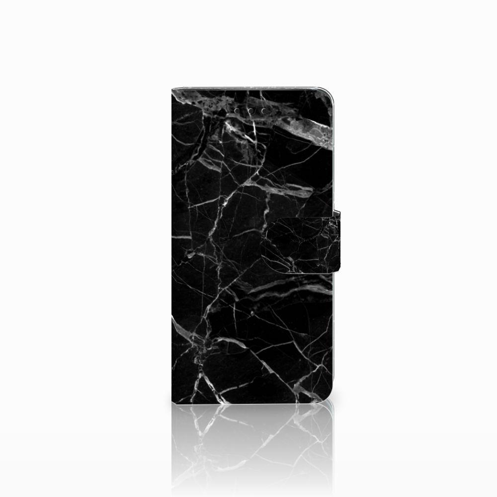 Huawei Y5 2018 Uniek Boekhoesje Marmer Zwart